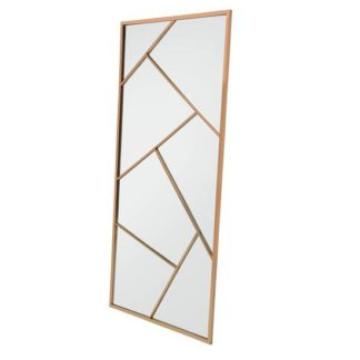 An Image of Betty Contemporary Floor Standing Mirror With RoseGold Frame