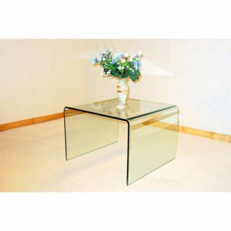 An Image of Angola Bent Clear Glass Lamp Table