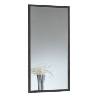 An Image of Stockholm Wall Mirror In Graphite Frame
