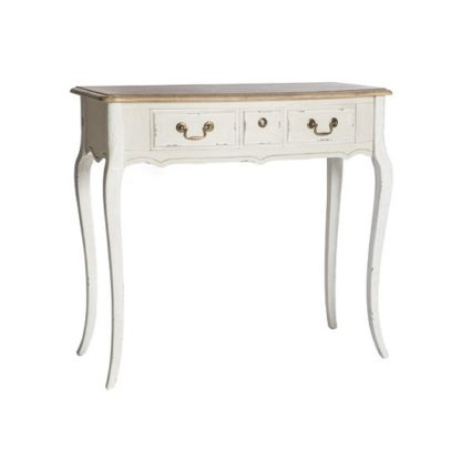 An Image of Spencer Wooden Console Table Small In White