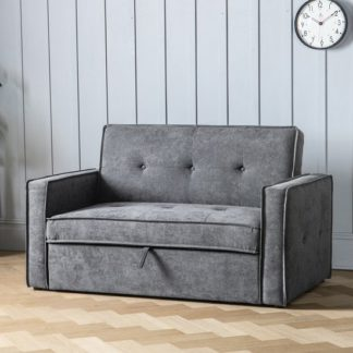 An Image of Ameland Contemporary Fabric Sofabed In Dove Grey
