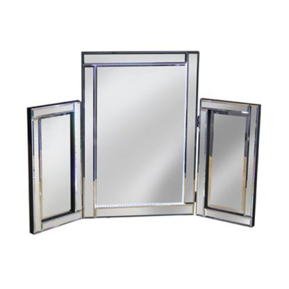 An Image of Illuminated Silver LED Dressing Table Mirror