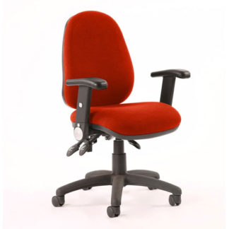 An Image of Luna II Office Chair In Tabasco Red With Folding Arms