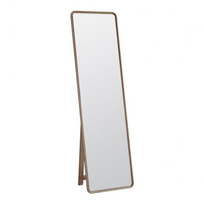 An Image of Kingham Cheval Mirror With Stand In Oak