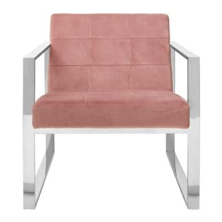 An Image of Sceptrum Pink Velvet Cocktail Lounge Chair