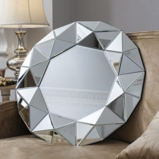 An Image of Valois Wall Mirror Round With Mirror Framed