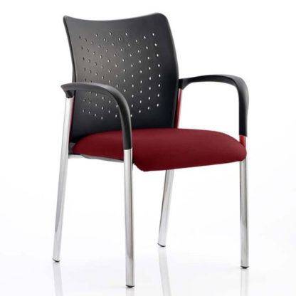 An Image of Academy Office Visitor Chair In Ginseng Chilli With Arms