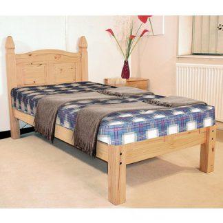 An Image of Corona Low Footend Wooden Single Bed In In Oak