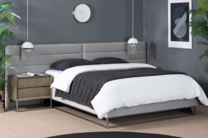An Image of Barbican Bed Silver