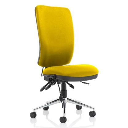 An Image of Chiro High Back Office Chair In Senna Yellow No Arms