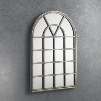 An Image of Opus Window Mirror In Pewter Frame