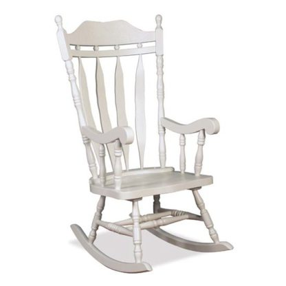 An Image of Jefferson Childs Rocker Chair In White