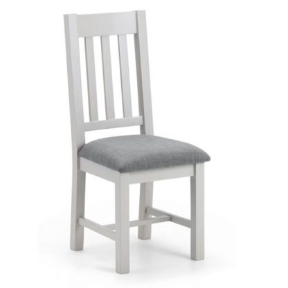 An Image of Christie Wooden Dining Chair In Taupe Linen With Grey Lacquer
