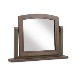 An Image of Ametis Wooden Dressing Table Mirror In Grey Washed Oak