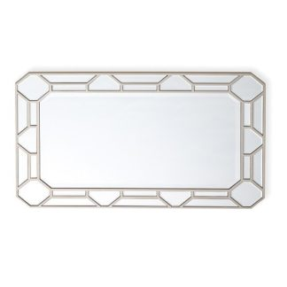 An Image of Dominga Rectangular Wall Mirror In Silver Finish