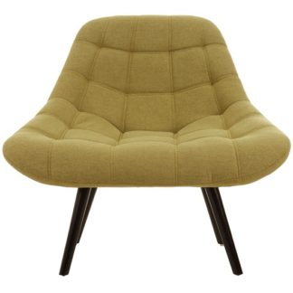 An Image of Hyadum Faux Linen Upholstered Bedroom Chair In Green
