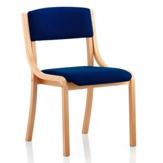 An Image of Charles Office Chair In Serene And Wooden Frame