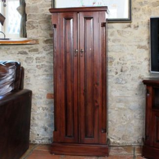 An Image of Belarus Mahogany CD And DVD Storage Cupboard With 2 Doors