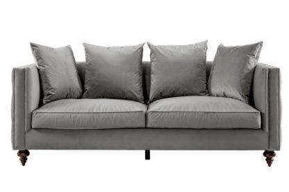 An Image of Ascot Three Seat Sofa – Dove Grey