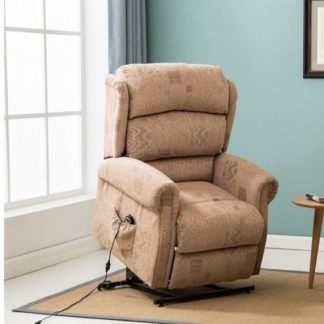 An Image of Manningham Modern Rise And Recliner Chair In Wheat Fabric