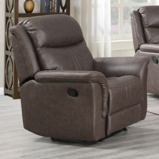 An Image of Proxima Fabric Lounge Chaise Armchair In Rustic Brown