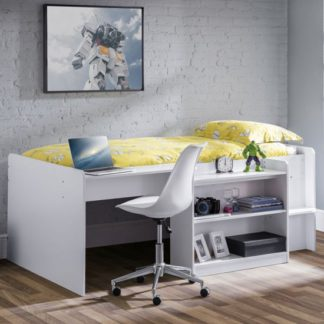 An Image of Neptune Midsleeper Bunk Bed With Computer Desk In White