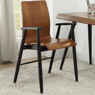 An Image of Hector Contemporary Wooden Home Office Chair In Walnut