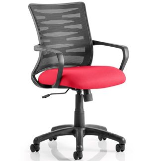 An Image of Eclipse Home Office Chair In Cherry With Castors