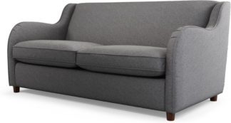 An Image of Custom MADE Helena Sofabed with Memory Foam Mattress, Textured Weave Smoke Grey