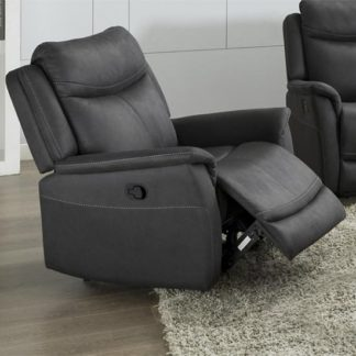 An Image of Arizona Fabric Electric Recliner Armchair In Slate