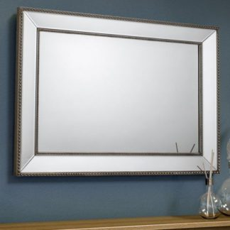 An Image of Symphony Beaded Wall Bedroom Mirror