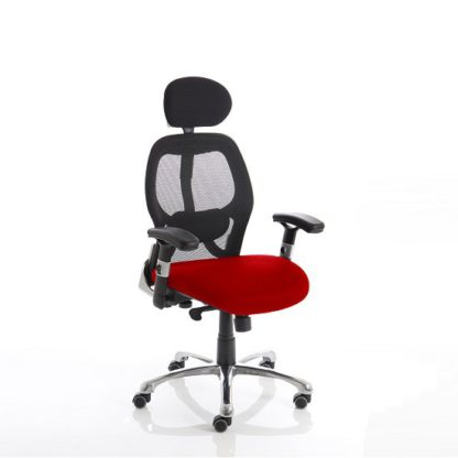 An Image of Coleen Home Office Chair In Cherry With Castors