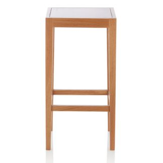 An Image of Proctor Wooden Bar Stool Square In Oak