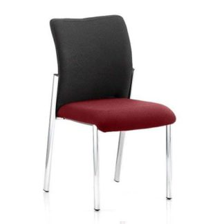 An Image of Academy Black Back Visitor Chair In Ginseng Chilli No Arms
