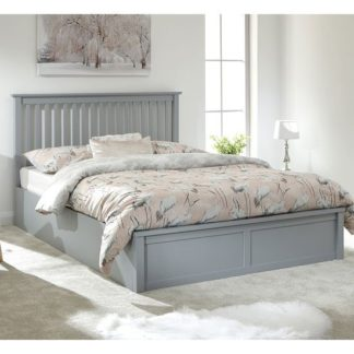 An Image of Como Wooden Single Double Bed In Grey