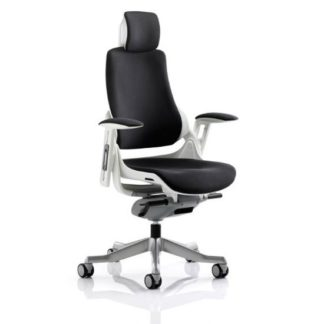 An Image of Zeta Executive Office Chair In Black Fabric