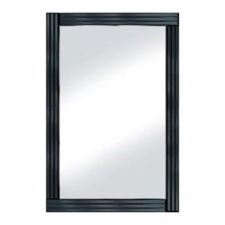 An Image of Black Panel 120x80 Large Mirror