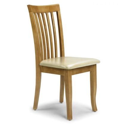 An Image of Cainsville Wooden Dining Chair In Maple Lacquered Finish
