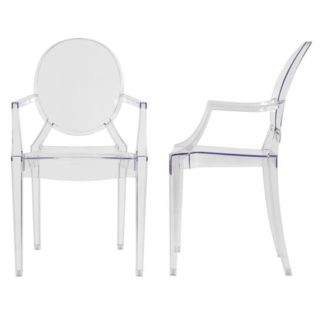 An Image of Lilly Clear Dining Room Chair A Pair
