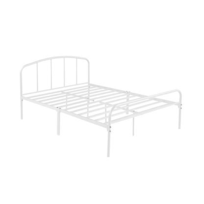 An Image of Milton Metal Double Bed In White