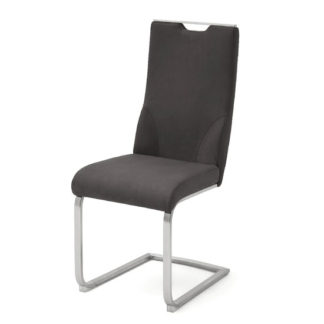 An Image of Jiulia Cantilever Dining Chair In Anthracite