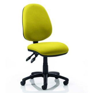 An Image of Luna II Office Chair In Senna Yellow