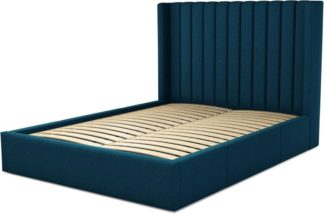 An Image of Custom MADE Cory King size Bed with Drawers, Navy Wool