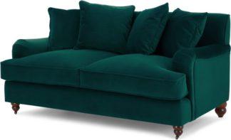 An Image of Orson 2 Seater Sofa, Scatterback, Seafoam Blue Velvet