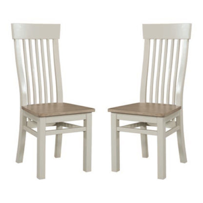 An Image of Empire Stone Painted Dining Chair In Pair