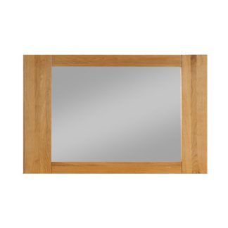 An Image of Heaton Bevelled Bedroom Mirror With Rustic Light Oak Frame
