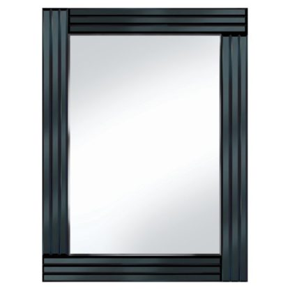 An Image of Black Panel 60x80 Rectangle Mirror