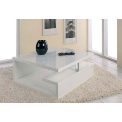 An Image of Geno High Gloss Coffee Table in White