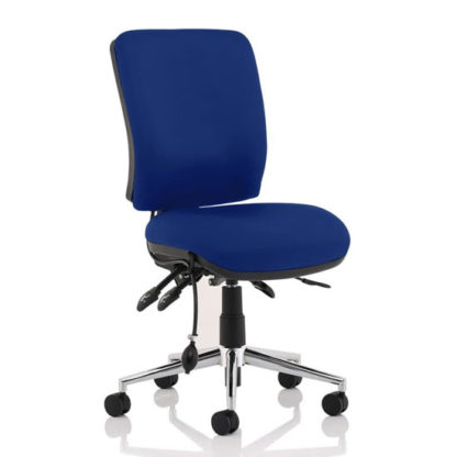 An Image of Chiro Medium Back Office Chair In Stevia Blue No Arms