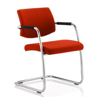 An Image of Marisa Office Chair In Pimento With Cantilever Frame